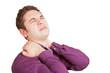 Mann hat Rückenschmerzen
