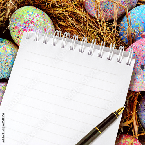 note of easter eggs