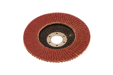 isolated abrasive disk for wood grinding