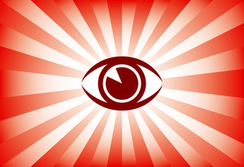 Eye sunburst vector.