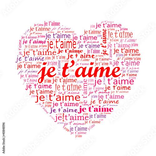 Carte coeur je t aime amour saint valentin passion - Un coeur amoureux ...