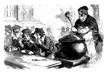 Orphans - Orphelins - 19th Century