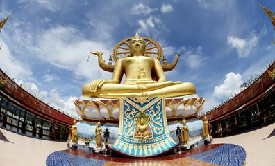 Big Buddha in Wat Phra Yai Temple, Koh Samui island,