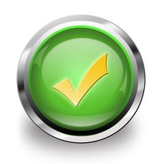 Button green ok 1