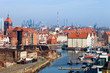 Aerial view na cityscape of Gdansk, Poland.