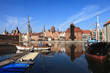 View over the river Motlawa the Old Town in Gdansk, Poland.