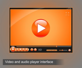Video and audio player interface