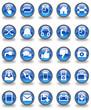 Tech & Communication Glossy Button Set