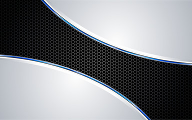 Blue Automotive Metal Background Vs2