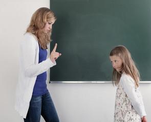 Strafende Lehrer