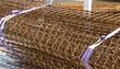 Chaînages carrés de fers à béton torsadés