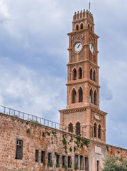 Ottoman landmark building - Han El-Umdan in Akko, Israel