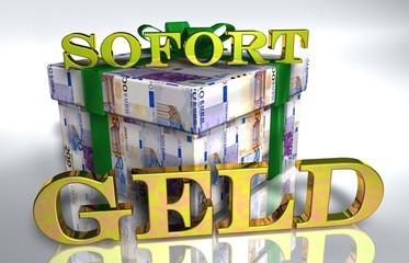3D Geldgeschenk weiss - SOFORT GELD