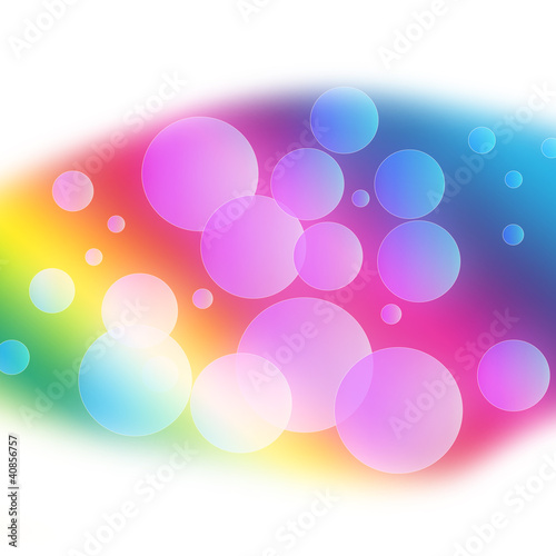 Leinwanddruck Bild abstract background with bubbles