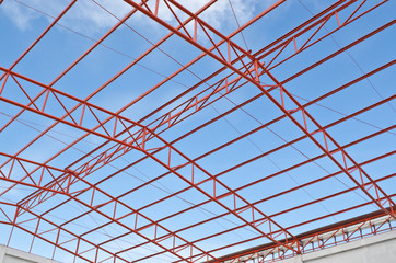 Steel roof trusses