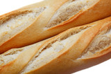 Photo of a Baguette on white background