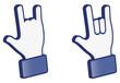 Hand symbol---Love 3D