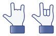 Hand symbol---Love 2D