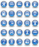 Transportation Glossy Button Set