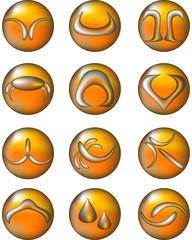 Zodiaco - Bottone