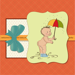 baby showing his butt. baby shower card