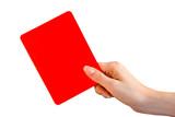 Rote Karte Hand