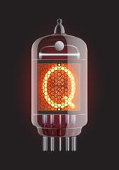 Nixie tube indicator.