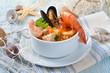 Kulinarische Fischsuppe