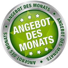 """Button """"Angebot des Monats"""" grün/silber"""