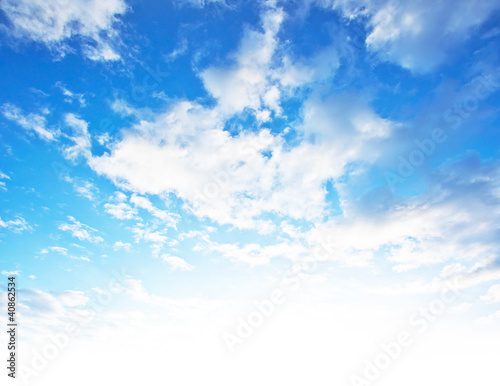Leinwanddruck Bild Blue sky background