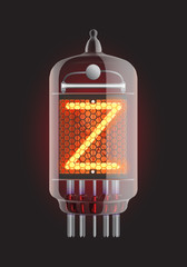 Nixie tube indicator.