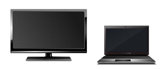 Monitor und Laptop