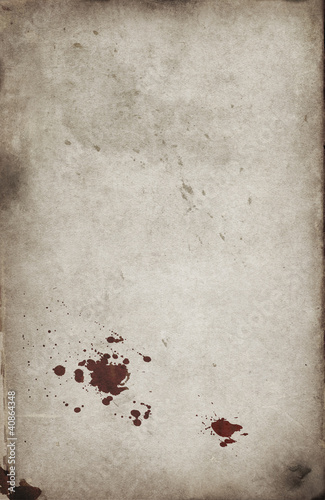 Blood spots on grunge background