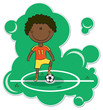 Cartoon African-American Soccer Player