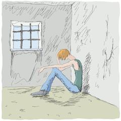 uomo triste