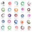 Spiral design elements. Set.