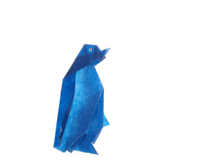 Pingouin bleu origami