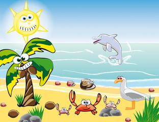 Strand Kindermotiv