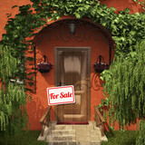 "Door with the ""For Sale"" table"