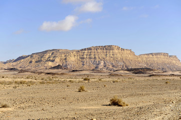 Ardon mountain in Negev desert.