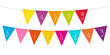 "Small Card Festoons Triangle ""Happy Birthday"" Colour"
