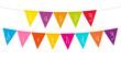 "Small Card Festoons Triangle ""Happy Birthday"" Colour"
