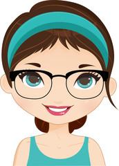 Girl Avatar glasses