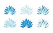 blue water lily , Buddha , Eco friendly business logo design