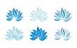 blue water lily , Buddha , Eco friendly business logo design