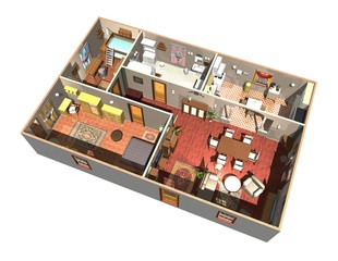 Appartamento-Interno-Home Interior-Apartment-3d Plan