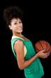 Woman with basketball