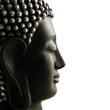 canvas print picture - Buddha Profil isoliert