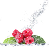 Fototapeta Kuchnia - lamponi splash © Giuseppe Porzani