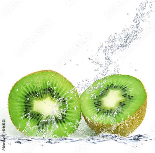 Poster Opspattend water kiwi splash